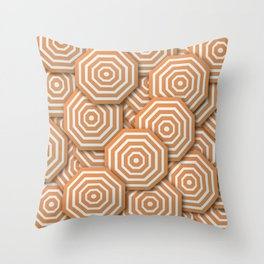 Octagons Throw Pillow