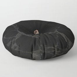 Forever Petal (Black Rose) Floor Pillow