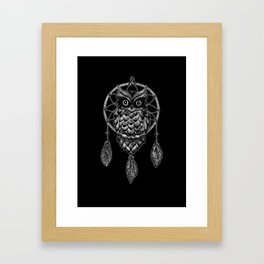 Dream Catcher Owl Framed Art Print