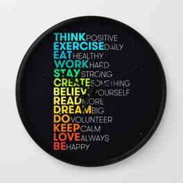 Motivating Inspiring Daily Dose Wall Clock