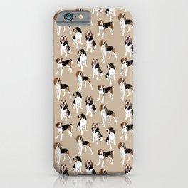 Treeing Walker Coonhounds on Tan iPhone Case