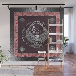 Japanese Swan Traditional 2 Motif Wall Mural