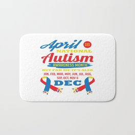 Autism Awareness Day Support Asperger Child Gift Bath Mat
