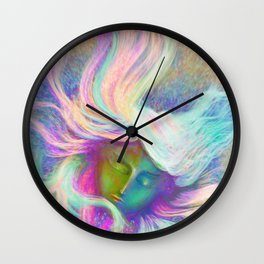 Rainbow Girl   Colourful Lady   Painting   Poster Wall Clock