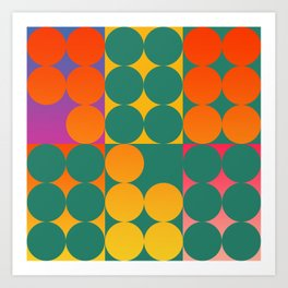Geometric Pop Abstract Art  Art Print