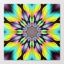 Fantasy sunflower with wavy rays and patterns by walstraasart