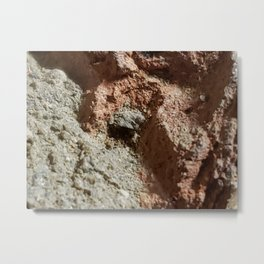 Exploring a giant cave, in a brick. Metal Print