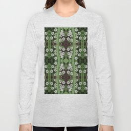 206 - Queen Anne's Lace abstract pattern Long Sleeve T-shirt