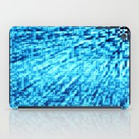 turquoise iPad Cases featuring TURquoise Pixel Wind by 2sweet4words Designs