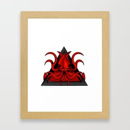 kraken illustration Framed Art Print