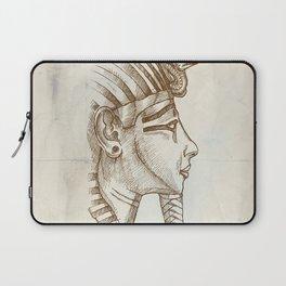 gold tutankhamon mask hand drawn Laptop Sleeve
