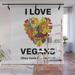 I Love Vegans Wall Mural