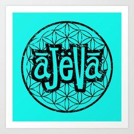 Ajeva Logo Teal Art Print