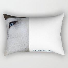 Husky eye Rectangular Pillow