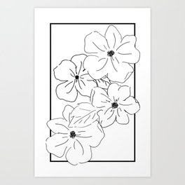 Flower Rectangle Art Print