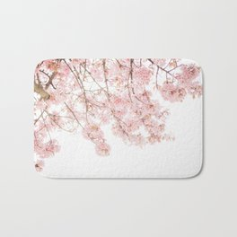 Pink Blooming Cherry Trees Bath Mat