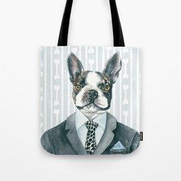 Boston Terrier Dressed for Dinner Tote Bag