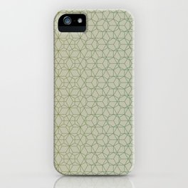 Tessellation - Culture Clash - Polytone Khaki / Sea-green iPhone Case