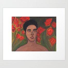 Rami Amongst the Roses Recolour Art Print
