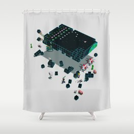 Galaga Craft Shower Curtain