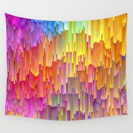Vibrant Rainbow Cascade Design Wall Tapestry