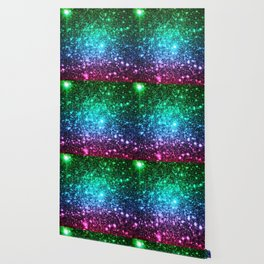 glitter Cool Tone Ombre (green blue purple pink) Wallpaper