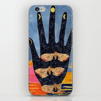 moth iPhone & iPod Skins featuring Moth by Dawn Patel Art