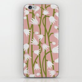 Climbing Lillies on Pink iPhone Skin