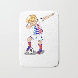 USA Soccer Player Dab Bath Mat