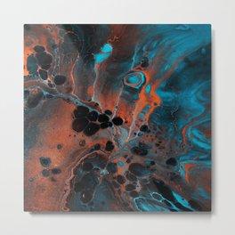 Copper Ocean Metal Print
