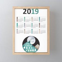 Calendar 2019, landscape Framed Mini Art Print