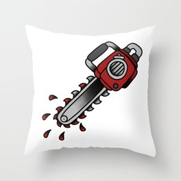 chainsaw Throw Pillow