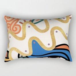 Aquarius - Abstract Zodiac Sign Rectangular Pillow