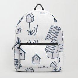 Bird House Drawings, Pattern Backpack