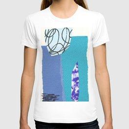 blue collage T-shirt
