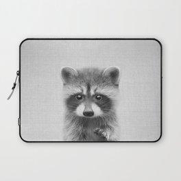 Raccoon - Black & White Laptop Sleeve