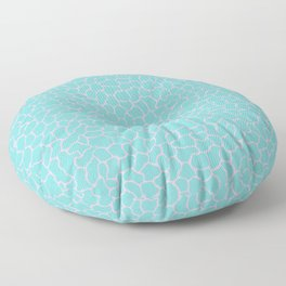 Reflection Pools in Aqua Sea/Pink Conch Floor Pillow