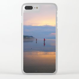 Couple on beach Clear iPhone Case