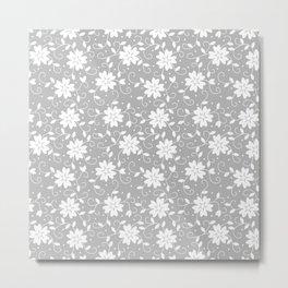 Elegant Wedding Floral Pattern 3 Metal Print