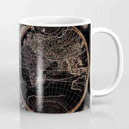 world map old vintage black Coffee Mug