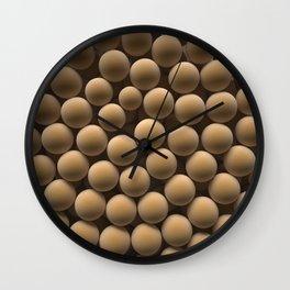 Brown spheres Wall Clock