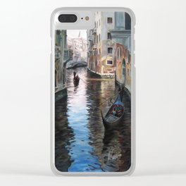 Venettian gondolas in Venise, Italy Clear iPhone Case
