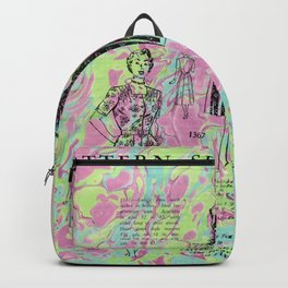 Marbled Vintage Magazine Page - Progressive Woman Backpack