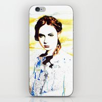 amy pond iPhone & iPod Skins featuring Karen Gillan (Amy Pond) by TheJollyRambler