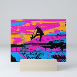 Lets Fly!  - Stunt Scooter Mini Art Print