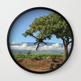 Two Cups and a Tree Wall Clock