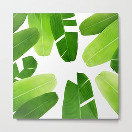 Banana leafs pattern iPhone 4 4s 5 5c 6 7, pillow case, mugs and tshirt Metal Print
