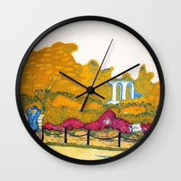 Koizumi Kishio - Rhododendron In Hibiya Park - Digital Remastered Edition Wall Clock