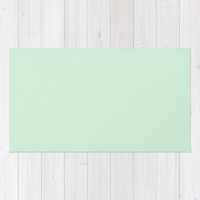 Pastel Green Light Pixel Dust Rug