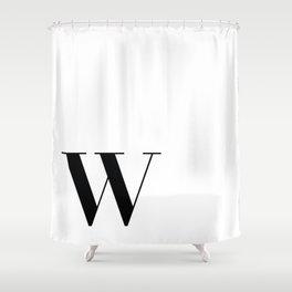 Inital W Shower Curtain